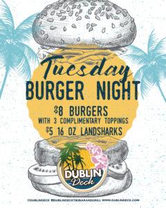 Tuesday Burgers Night