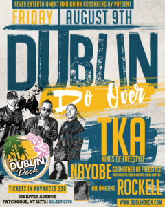 Flyer for Dublin Do Over, TKA Concert on August 9th