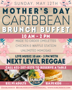 Flyer for Mother's Day Caribbean Brunch Buffet
