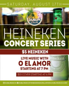 Heineken Concert Series Flyer with O El Amor