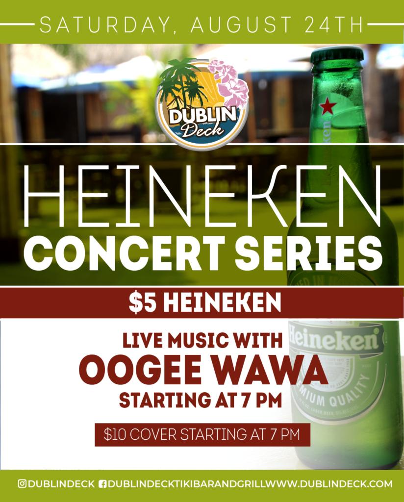 Heineken Concert Series – Live Music with Oogee Wawa