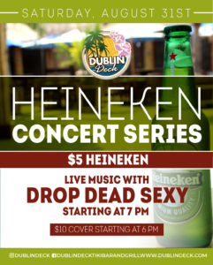 Heineken Concert Series Flyer with Drop Dead Sexy