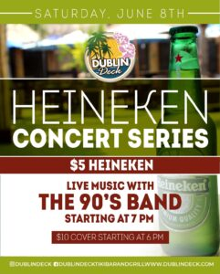 Flyer for Heineken Concert Series with that 90's Band
