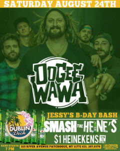 Flyer for Oogee Wawa on August 24th