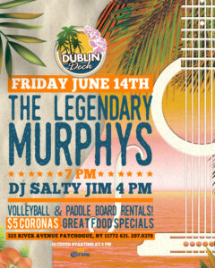 Flyer for live music with The Legendary Murphys on June 14th