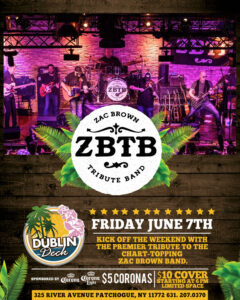 Flyer for ZBTB on Friday June 7th with $5 Coronas
