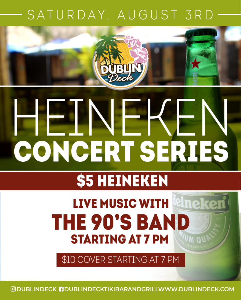 Heineken Concert Series – Live Music with The 90's Band