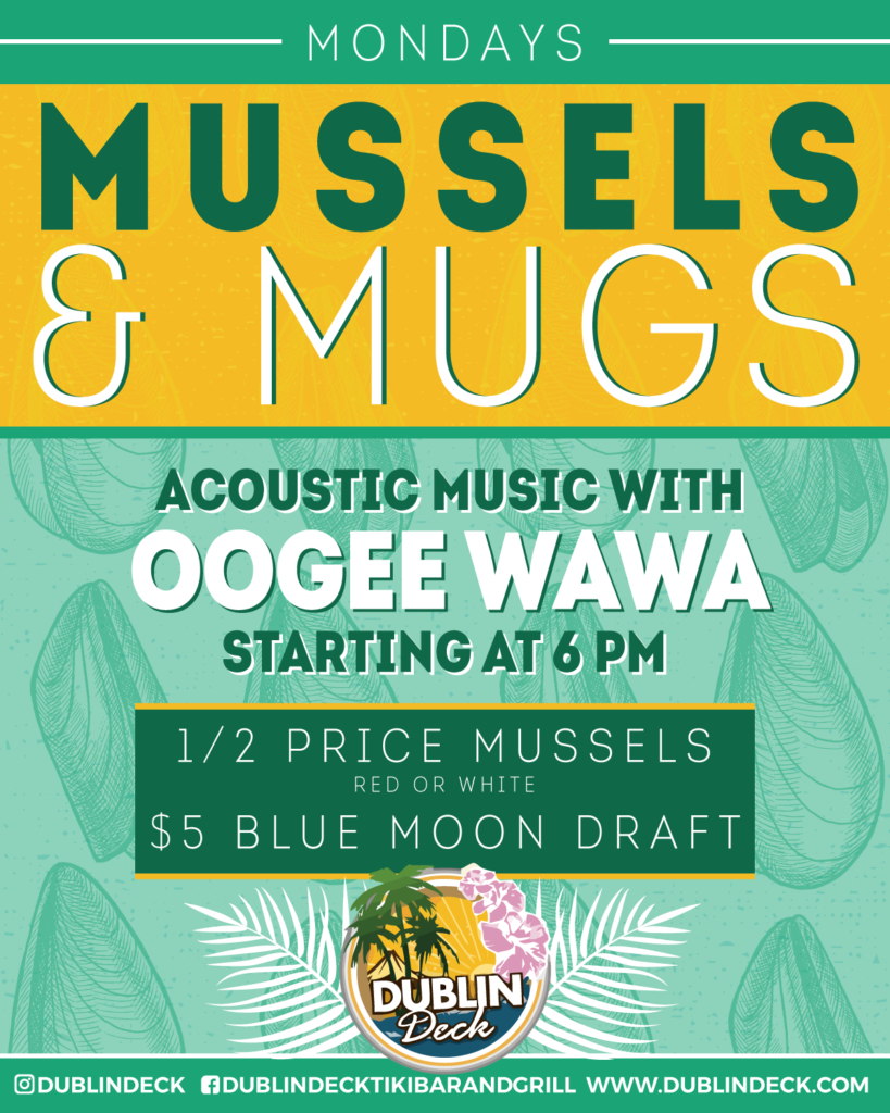 Mussels & Mugs – Acoustic Music with Oogee Wawa