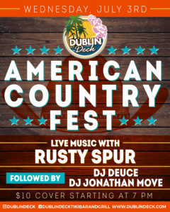 July 3rd American Country Fest flyer