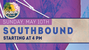 flyer for live music with southbound on may 10th at 4pm