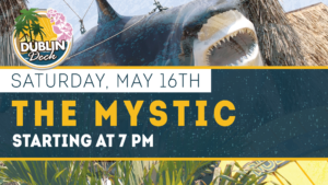 flyer for live music with the mystic on may 16th at 7pm
