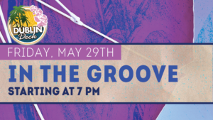 flyer for live music with in the groove on may 29th at 7pm