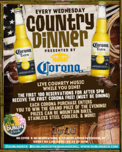 Wednesday Country DInner Nigh