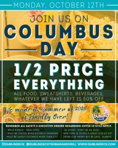 Columbus Day 1/2 Priced