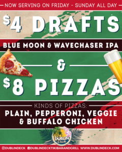 $8 Pizzas and $4 Beers