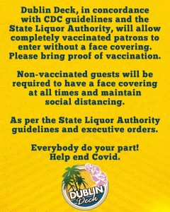Fully vaccinated guests will not be required to wear a face covering with proof of vaccination as per the SLA guidelines. Non-vaccinated guests will still be required to wear their mask for the safety of themselves and others.