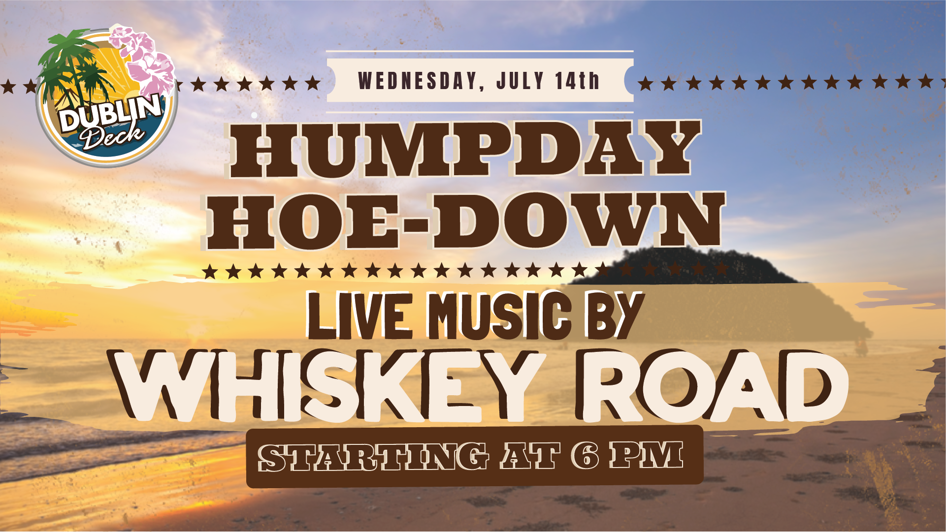 Wednesday July 14th with Whiskey Road 6:00 PM