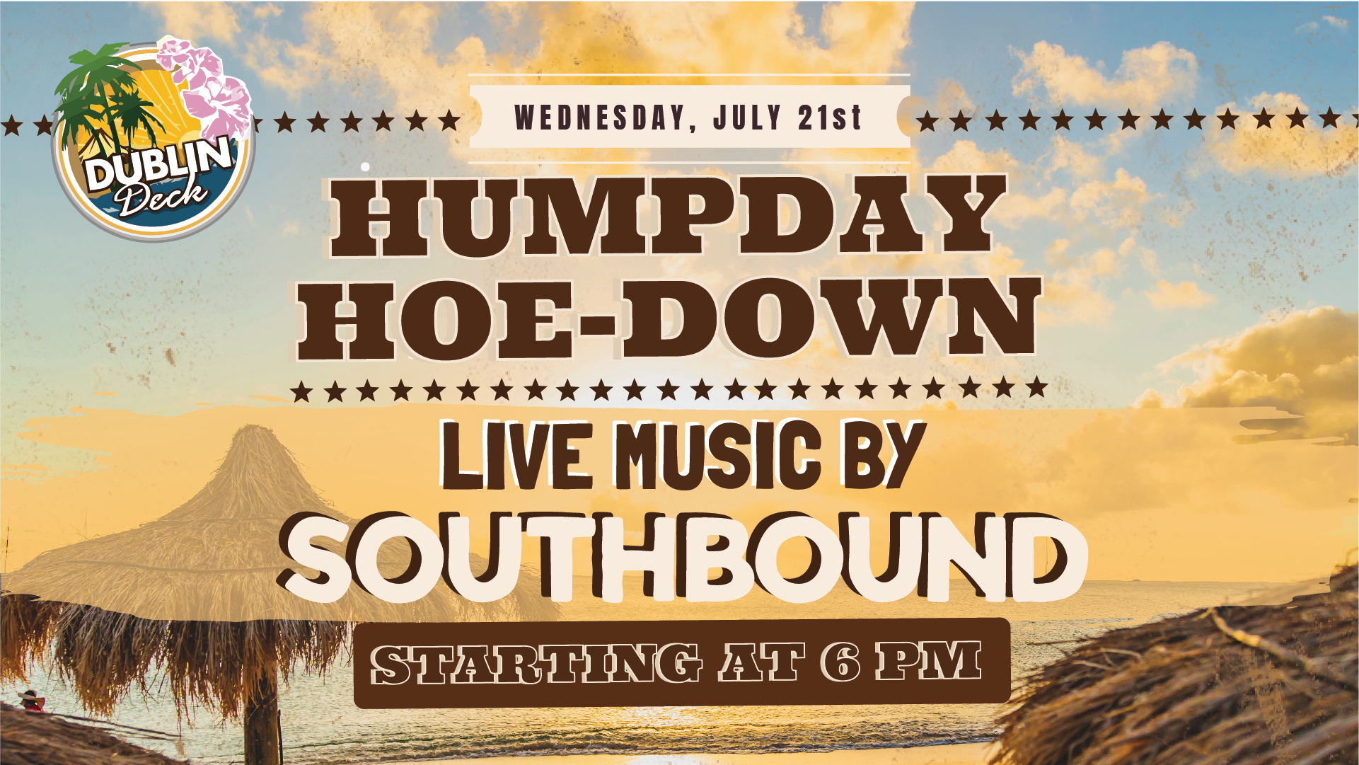 Wednesday July 21st with Southbound 6:00 PM