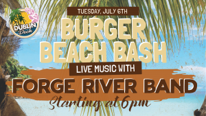 Tuesday July 6th with Forge River Band 6:00 PM