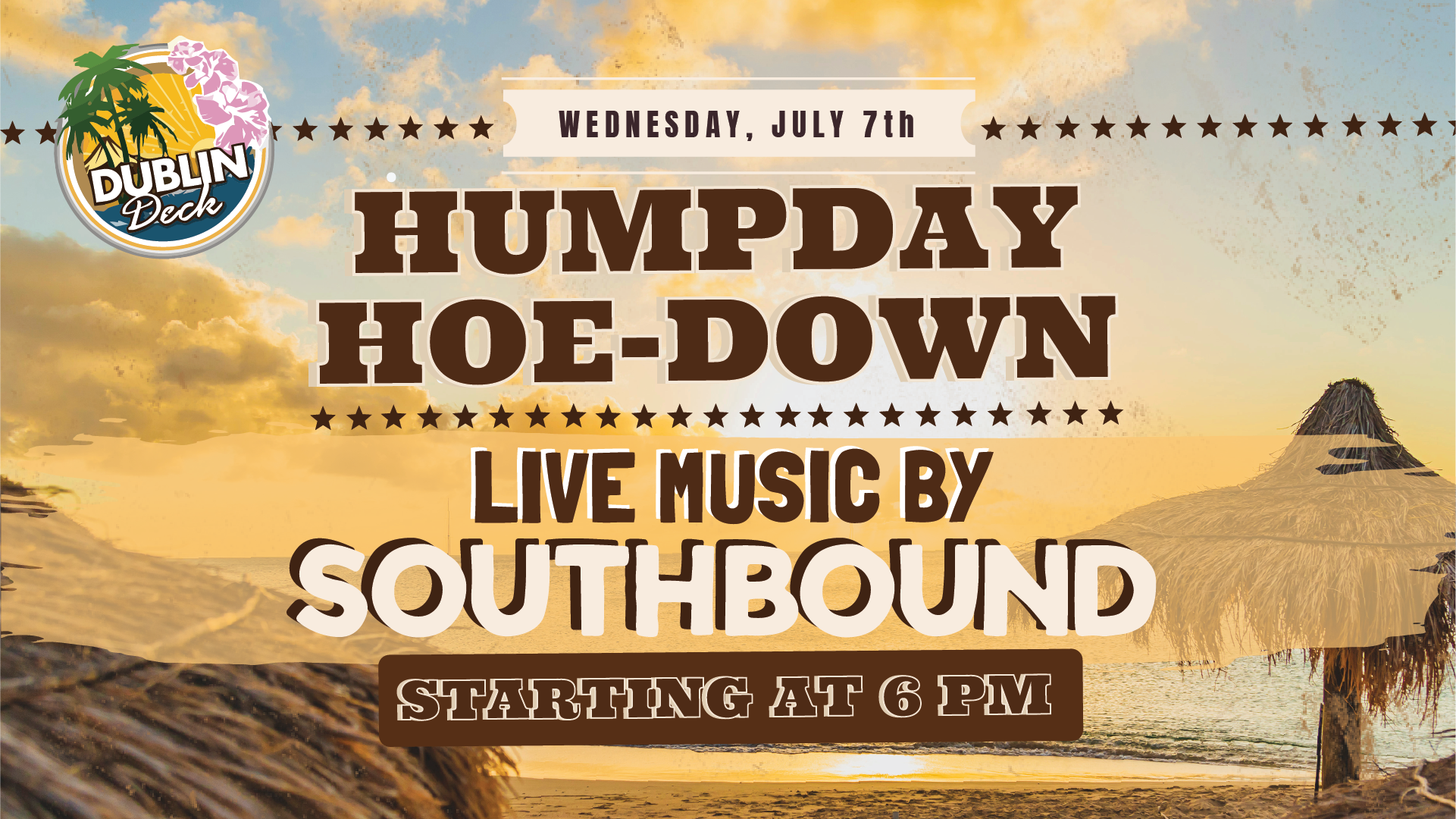 Wednesday July 7th with Southbound 6:00 PM
